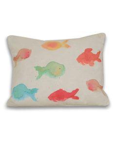 Thro 'Water Color Multi Fish' Decorative Pillow