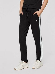 SHEIN Men Striped Side Embroidered Joggers mens fashion casual mens fashion edgy mens fashion smart mens fashion rustic mens fashion summer me Rustic Mens Fashion, Older Mens Fashion, Mens Fashion Suits, Fashion Vintage, Grunge Fashion Soft, Fashion Edgy, Fashion Trends, Rugged Style, Grey Man