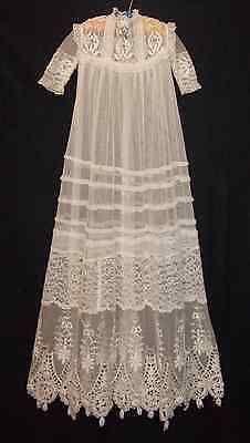 Fino Antiguo Bebé Vestido De Bautizo Catedral longitud de encaje y bordado | Antigüedades, Linos y textiles (antes de 1930), Bordados | eBay!