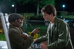 Ansel Elgort and CJ Jones in Baby Driver (1)