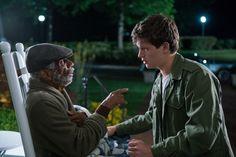 Ansel Elgort and CJ Jones in Baby Driver (1)