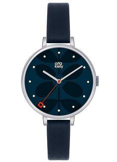 Ladies Black Strap Black Dial Watch by Orla Kiely