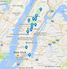Completed map of all the Gossip Girl locations, addresses, and descriptions from filming in New York City!