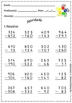 Subtraction with and without regrouping Math Practice Worksheets, Multiplication Worksheets, 1st Grade Worksheets, 2nd Grade Math, Expanded Form Math, Math Sheets, Daily Math, Math For Kids, Kids Education
