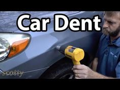 How to remove a car dent. Car dent removal and repair without having to repaint DIY with Scotty Kilmer. How to fix dents in your car without. Cars Youtube, Damaged Cars, Car Hacks, Car Cleaning, Cleaning Hacks, Car Detailing, Challenges, Car Repair, Repair Shop