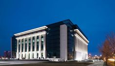 Office building lighting - outdoor LED lighting by TRILUX