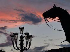 Piazza Castello al tramonto