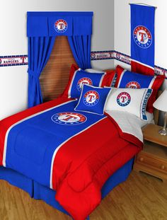 Texas Rangers Bedding!  If only I had the bedroom to do this in!