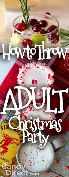 This ain't Tiny Tim's Christmas party! The holidays aren't JUST for kids.  If you wanna have an adult shin-dig and do it right, check this out.  How to throw an Adult #Christmas Party!