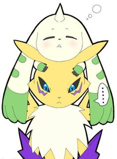 Digimon Tamers - Renamon and Terriermon