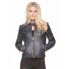 Marc NY Women's ''George'' Faux Leather Jacket
