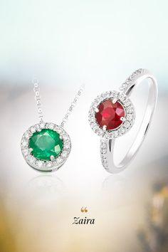 Ani tento rok sme výber šperkov s podtitulom Top trendy neobišli a už teraz vieme, že sme urobili dobre. Nadčasová súprava Zaira má všetky atribúty pre nadviazanie triumfálneho ťaženia setu Still life a rovnako ako on, ponúka príťažlivý dizajn zaoblených tvarov a farebnú pestrosť pri výbere prírodných drahých kameňov. Preto či váš zrak upúta srdečný rubín, nepoddajný smaragd, dôstojný zafír alebo šarmantný tanzanit, Zaira vyhovie všetkým prianiam. Gemstones, Earrings, Jewelry, Fashion, Ear Rings, Moda, Stud Earrings, Jewlery, Gems