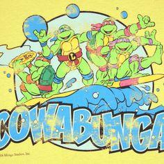 Teenage Mutant Ninja Turtles Cowabunga Adult T Shirt Ebay