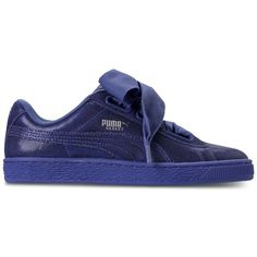 Puma Women's Basket Heart Ns Casual Sneakers from Finish Line ($75) ❤ liked on Polyvore featuring shoes, sneakers, vintage sneakers, vintage shoes, vintage trainers, heart shoes and puma trainers