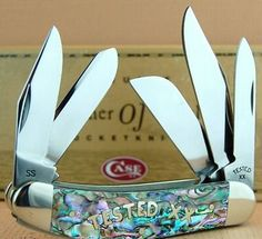 CASE XX SOWBELLY ABALONE MOTHER OF PEARL TESTED XX 5 BLADE - ONLY 150 MADE - 2003