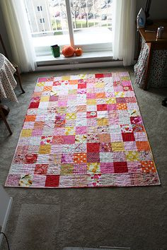 @Jeni Baker knows an easy way to put together your favorite color scheme of fabric into a brand new quilt pattern. Make a basic patchwork quilt pattern in any style with this quick and easy tutorial. It'll make a great throw, bed quilt, or baby quilt pattern.