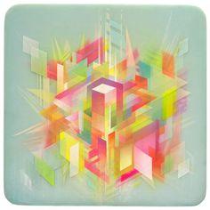 Layered Geometric Artwork by Francesco Locastro