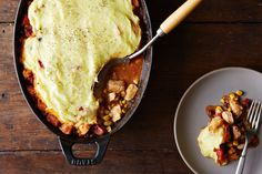 Mexican food and shepherd's pie got married and had a baby and they named it Tamale Pie.