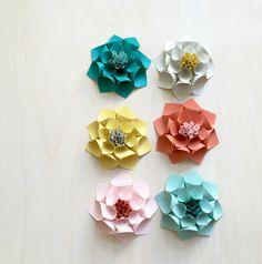 DAHLIA PAPER FLOWERS