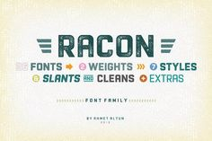 Racon Font Family- 80%OFF by aatype on @creativemarket