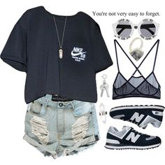 A fashion look from January 2015 featuring print shirts, short shorts and New Balance. Browse and shop related looks.