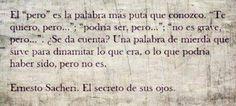 Libro: El Secreto de sus ojos. Autor: Ernesto Sacheri.
