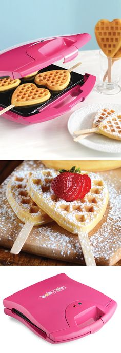 Heart waffle maker // perfect for #Valentines Day!