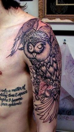 owl sleeve tattoo - Google Search