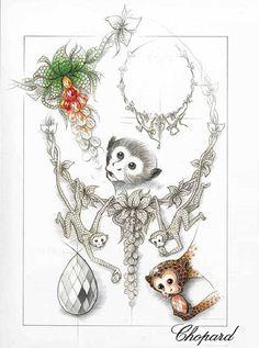 Colleciton Animal World : bijoux animaux Chopard - Bestiaire Chopard - 150 ans Chopard : bijoux Chopard - Collection Animal World, Chopard Paper Jewelry, Jewelry Art, Antique Jewelry, Fashion Jewelry, Jewelry Ideas, Jewelry Logo, Jewelry Stand, Etsy Jewelry, Jewelry Shop