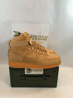 best website 53a70 284dd Details about Nike Air Force 1 High  07 LV8 Wb Wheat Flax Gum Brown 882096- 200 Mens Size 10