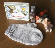 What a great gift idea for little kids from @tincanknits. The giant mitten is the perfect touch. | The Mitten