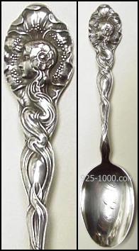 Art Nouveau, Sterling Silver Spoon