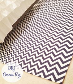DIY fabric rug...All that's missing is to use a glue gun to make grippers on the bottom. Need: fabric, drop cloth, glue gun, sewing machine/hem tape.