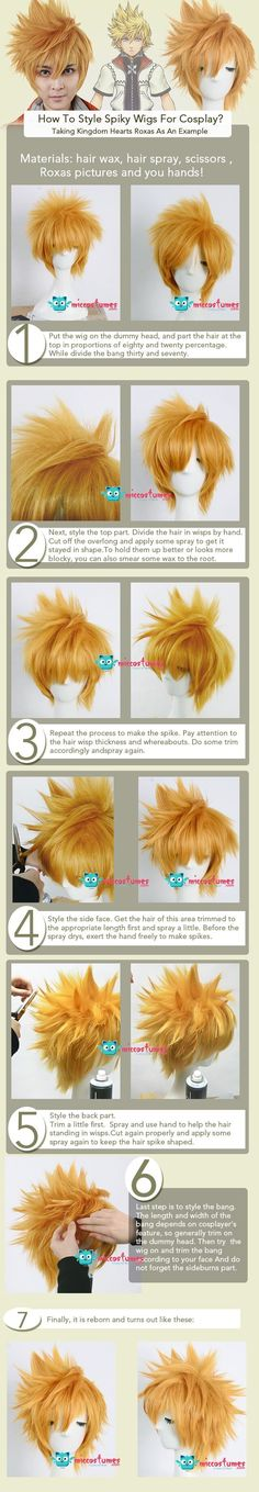How To Style Spiky Wigs For Cosplay? Taking Kingdom Hearts Roxas As An Example by miccostumes