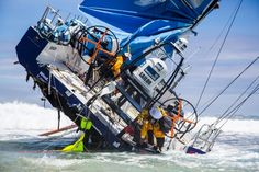 Team Vestas Wind grounded near Mauritius. Not so fun