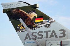 German Air Force Panavia Tornado IDS  45+57 ASSTA 3 tail