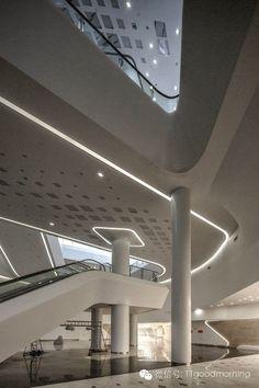 Visions of the Future: Nanjing Youth Olympic Centre - Zaha Hadid - China Zaha Hadid Interior, Zaha Hadid Architecture, Parametric Architecture, Parametric Design, Space Architecture, Futuristic Architecture, Contemporary Architecture, Architecture Details, Baroque Architecture