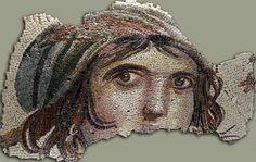 A Roman mosaic fragment that was rediscovered in excavations during the winter of 1998-1999 in the ancient Roman settlement of Zeugma in modern-day Turkey.