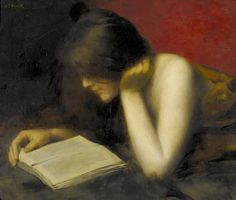 ✉ Biblio Beauties ✉ paintings of women reading letters & books - Marie Augustin Zwiller - La liseuse