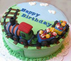 Edible Train Cake Topper Set. $30.00, via Etsy.