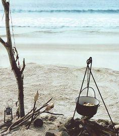 camping set up - I wish I had this camping on the beach in Bahia Honda Key.  anthology mag blog