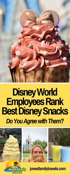 Do you love Disney Snacks? Disney Cast Members (employees) that work at the parks rank the 6 Best Disney World Snacks. #6 is my favorite! #disney #disneyworld #disneyworldding Disney World Theme Parks, Disney World Food, Disney World Restaurants, Disney World Planning, Walt Disney World Vacations, Disney Resorts, Disney Travel, Disney Dining Tips, Disney On A Budget