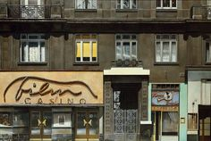 Franz Zadrazil: Blick in die Hinterhöfe Vienna, Illustration, Museum, Painting, Image, Pictures, Wood Slab, Hundertwasser, Archive