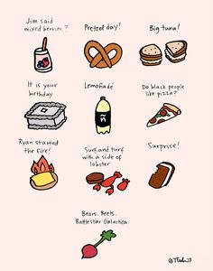 The Office foods-24 Awesome Pop Culture Illustrations