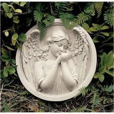 Classic Garden Decor – XoticBrands Home Decor Angel Sculpture, Garden Angels, Angel Statues, Wall Decor, Wall Art, Bedroom Decor, Garden Statues, Wall Sculptures, Garden Sculptures