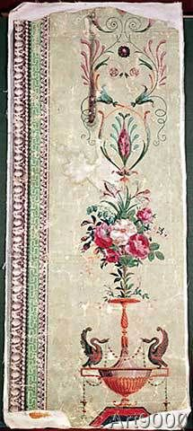 Unbekannt - Hand-painted wallpaper by Jean-Baptiste Reveillon, c.1780-90