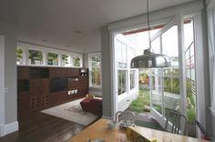 transitional living room by Feldman Architecture, Inc.