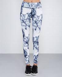 Image result for white black marble leggings