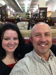 Taking selfie at furniture stores! Free things to do with your Beau