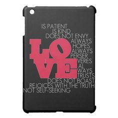 Love Never Fails - iPad Mini Case